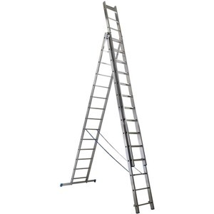 Drabiny Drabina aluminiowa MacAllister 3 x 14 stopni